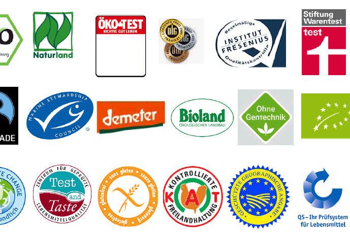Regionale Lebensmittel: Auflistung Lebensmittelsiegel